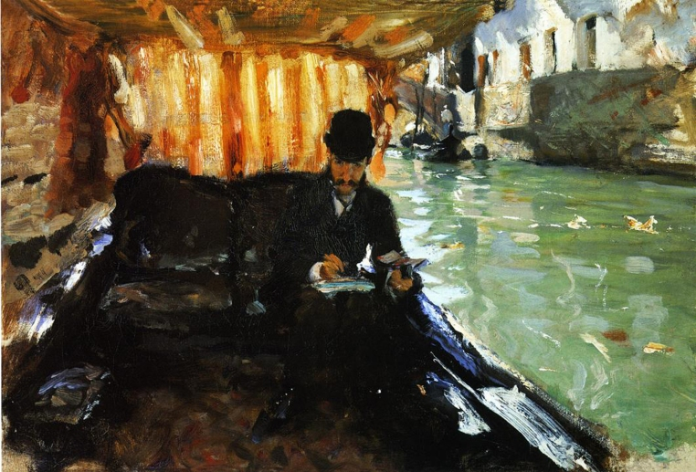 Ramón Subercassaux in a Gondola, 1880
